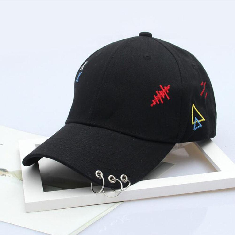 MISSKY Unisex Women Men Hats Hiphop Adjustable Embroidery Pattern Iron Ring   Baseball     Cap   For Summer