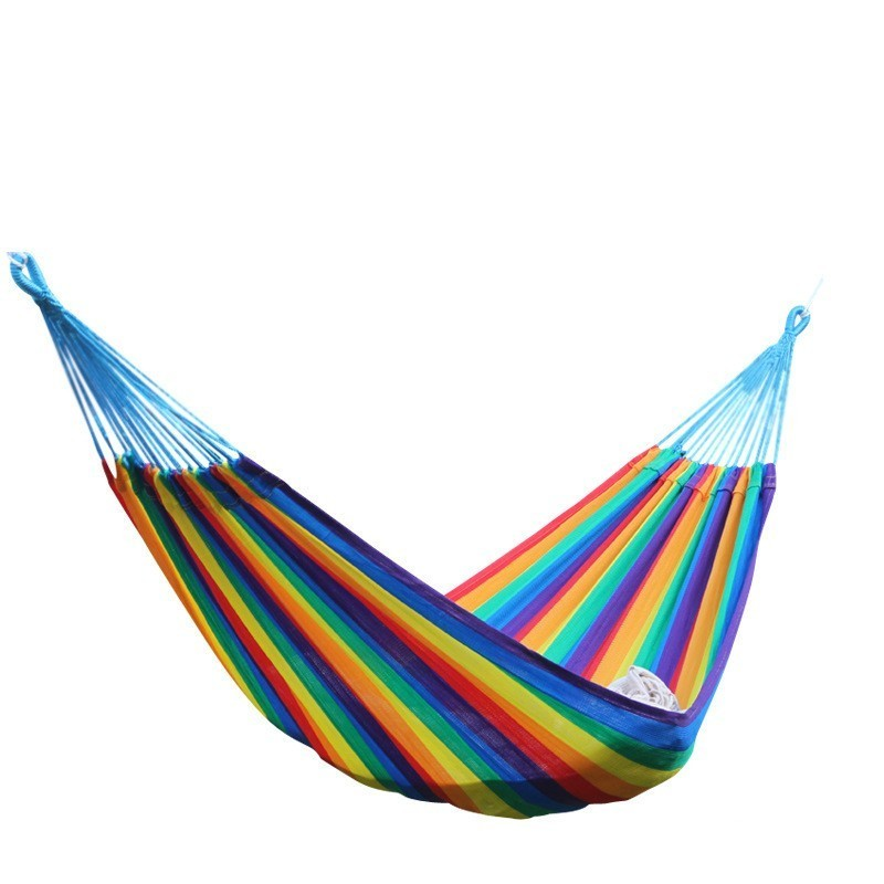 Soft Rainbow Nylon Hammock 200*120cm Breathable Lightweight Design 1.5KG With Carry Bag                                         Soft Rainbow Nylon Hammock 200*120cm Breathable Lightweight Design 1.5KG With Carry Bag