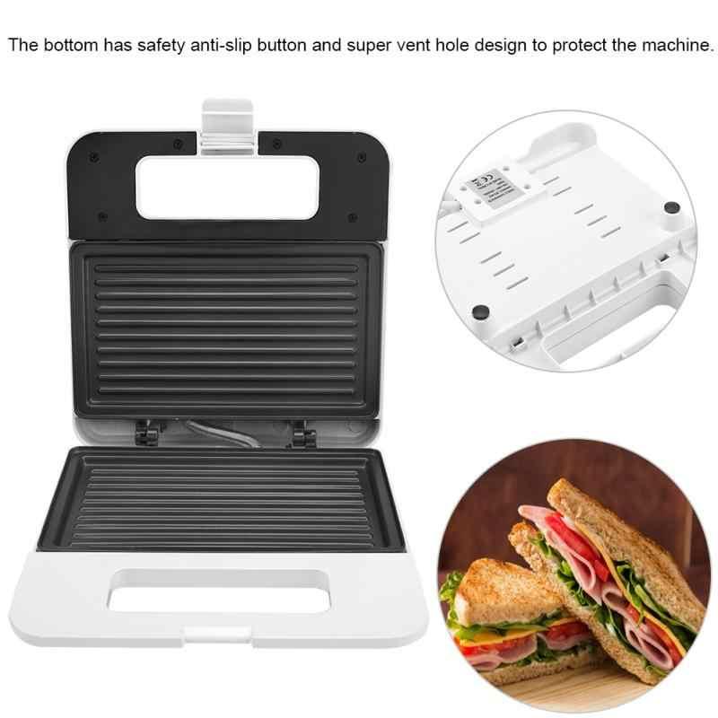 Nueva máquina eléctrica para hacer bocadillos de huevo Mini asar Panini placas para hornear tostadora multifunción antiadherente máquina de desayuno de gofres UE
