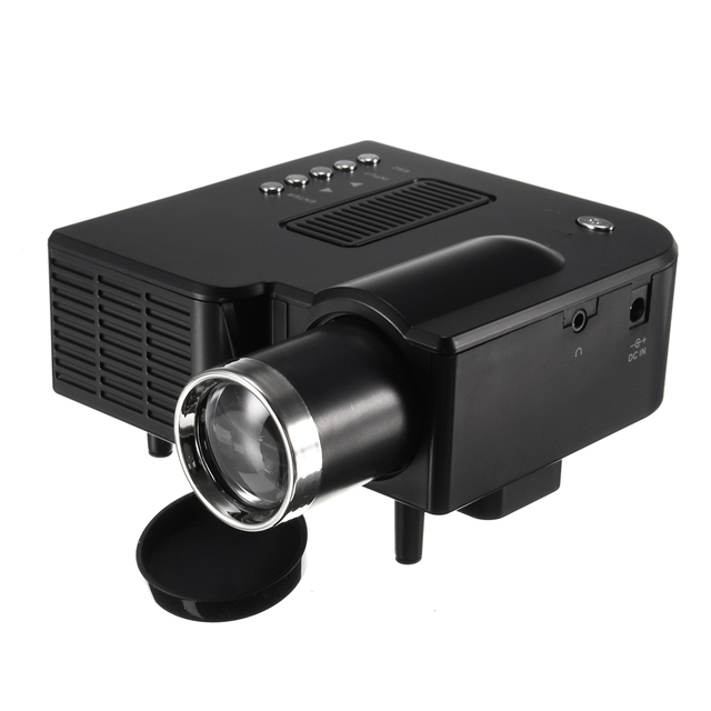 Special Price Home Theatre LED System Clear Projector Portable  Cinema Theater USB SD AV Input Mini Entertainment Projector Black White US AU