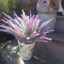 6colors 5 Heads Artificial Flowers Plastic Flower Romantic Provence Lavender Decoration For Party Home Garden Decor