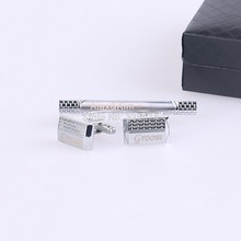 Personalized Engraving Metel Cufflinks and Tie Clip Sets with Gift Box   Wedding Favors  For Men's Gift цена в Москве и Питере