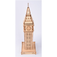 62pcs Model Building Kits High precision Laser Cutting Puzzle 3D Wooden Jigsaw Model