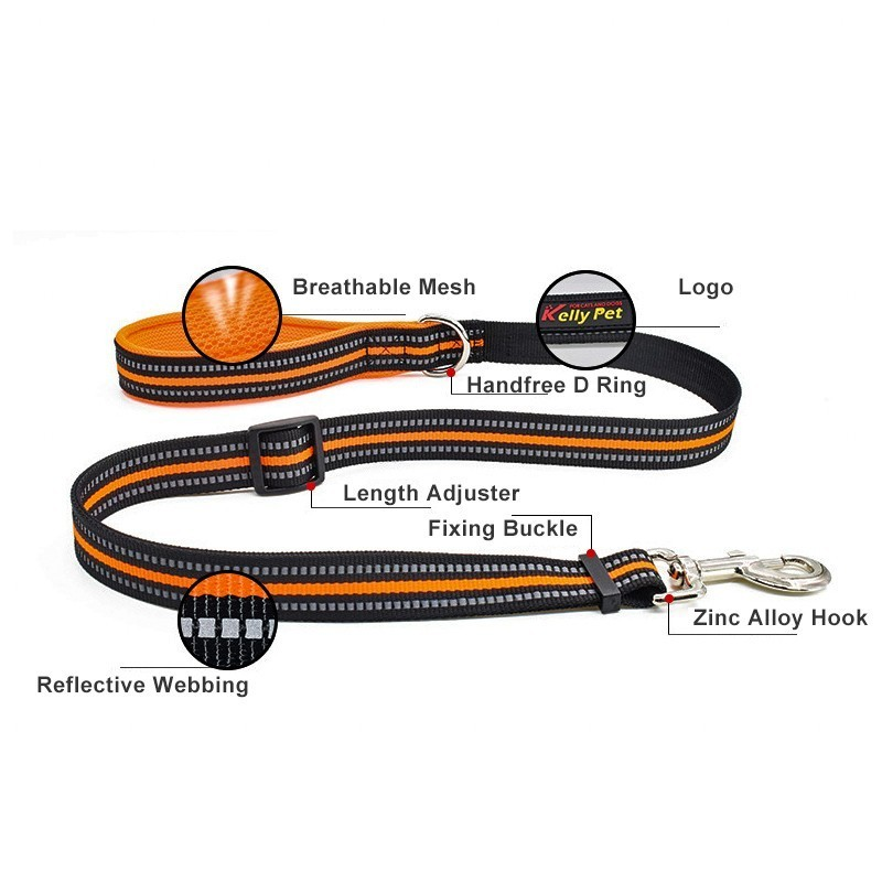 Benepaw Adjustable Nylon Pet Leash Dog Comfy 4 Colors Lightweight Reflective Leashes For Large Small Dogs