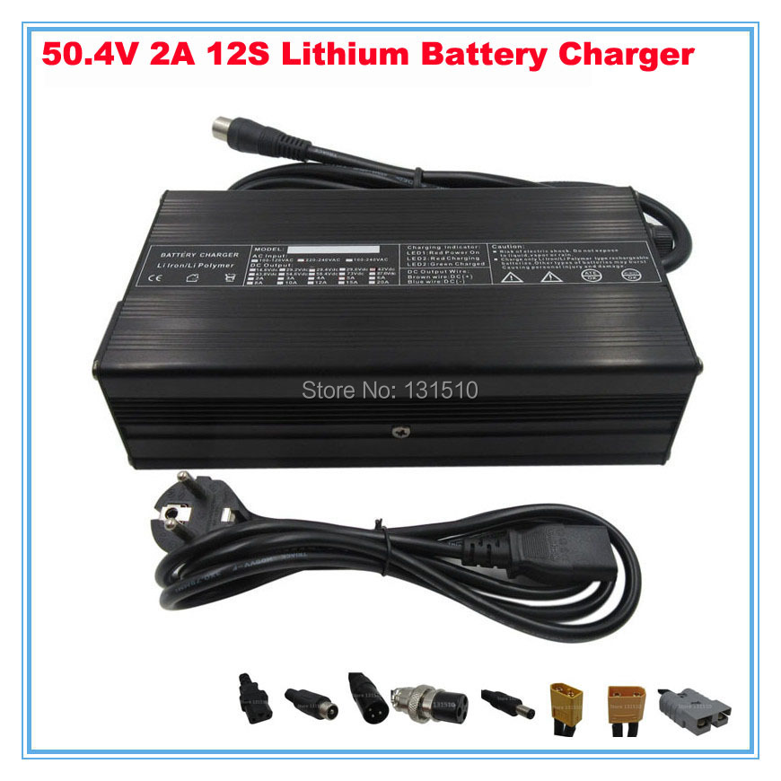 50 4V 2A Charger 12S 44 4V 10ah 15AH 20AH E Bike Li ion Battery Smart