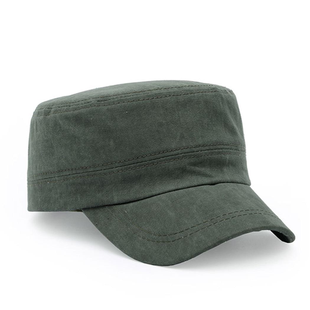 Kopfbedeckungen Für Herren Unisex Einfarbig Militärische Kappe Klassische Militärische Hut Einstellbar Caps Einfache Version Von Die Eye-Öffnung Flache Baumwolle Militär Kappen Verkaufsrabatt 50-70%