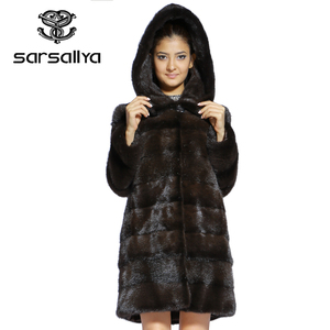 Image 3 - אמיתי פרווה מעיל נשים בתוספת גודל טבעי מינק פרווה מעיל עם ברדס נשי ארוך אמיתי מינק מעילי גבירותיי וינטג Oversize בגדים