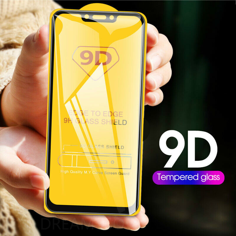 9D Full Cover Glass for huawei P Smart 2019 Y5 Y6 2019 Protective Glass For huawei Honor 8S 8A 8C 8X 10i 20i screen cover case(China)