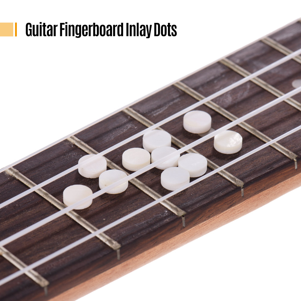 Guitar Parts & Accessories 10 Pcs High Quality 6*2mm Natural White Mother Of Pearl Guitar Bass Inlay Fingerboard Fret Dots Volume Large