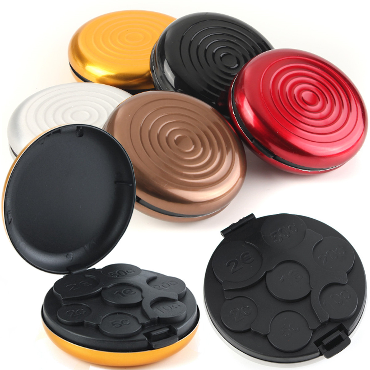 Wallet Box Dispenser-Holder Container-Collection Storage-Case Hold-Coins Dollar Euro