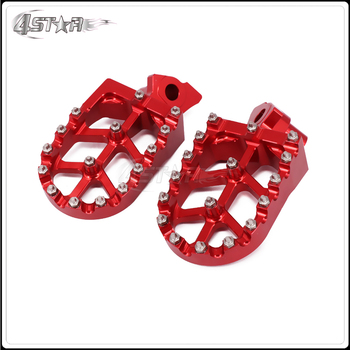 CNC Motorcycle Foot Pegs Pedals Rests For HONDA CR125 CR250 1995-1999 CR500 1995-2005 For YAMAHA YZ125 YZ250 WR400 1997-1998