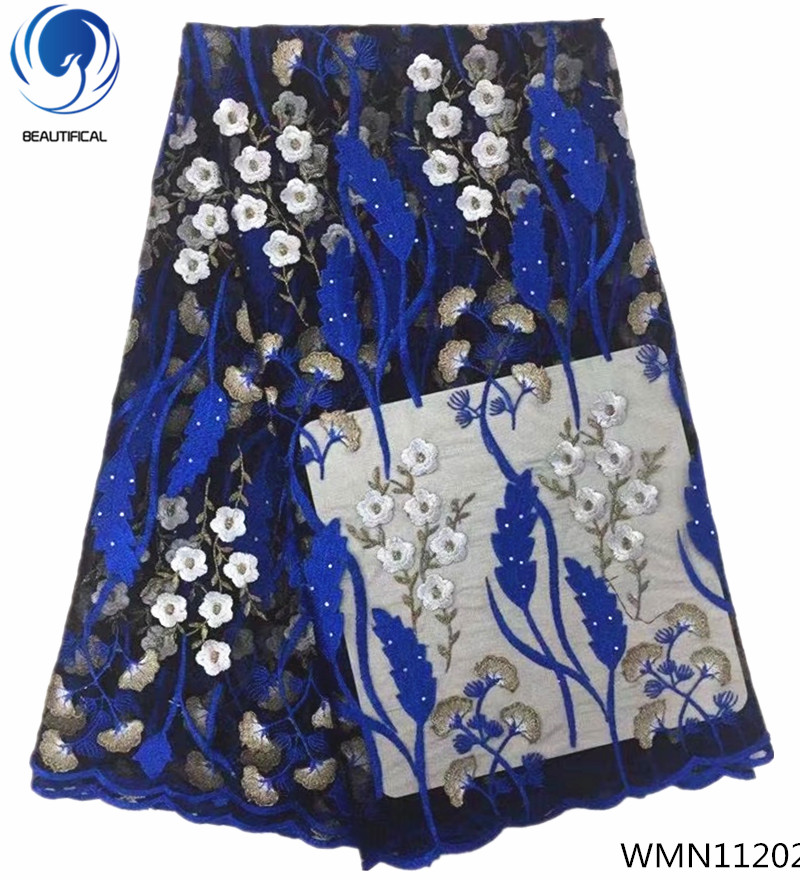 BEAUTIFICAL african lace wedding lace fashion flower lace fabric free shipping blue latest fabrics for women 5yards/lot WMN112BEAUTIFICAL african lace wedding lace fashion flower lace fabric free shipping blue latest fabrics for women 5yards/lot WMN112