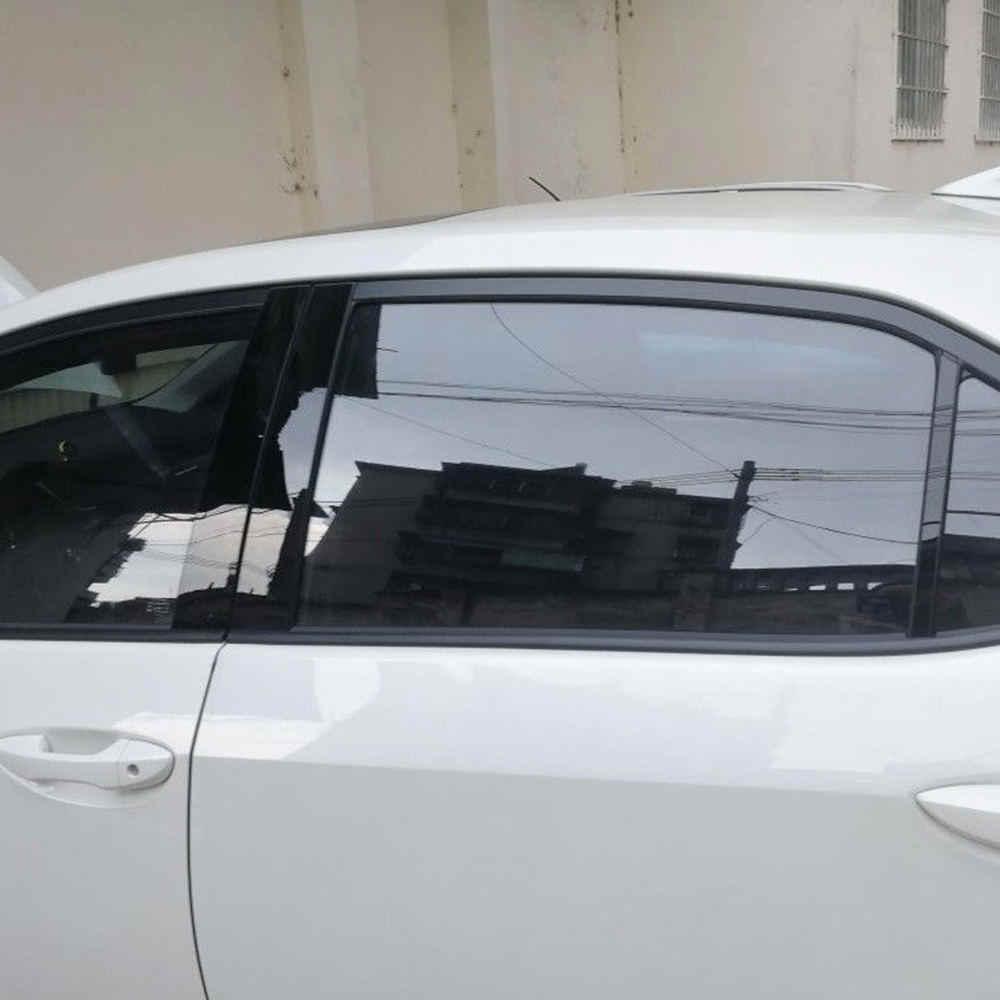 6 cái/bộ Đen Trụ Cột Bìa Door Trim Cửa Sổ Đàn Piano Phù Hợp Cho Toyota Corolla Levin 2014-18 Trung Cột BC cột Sticker