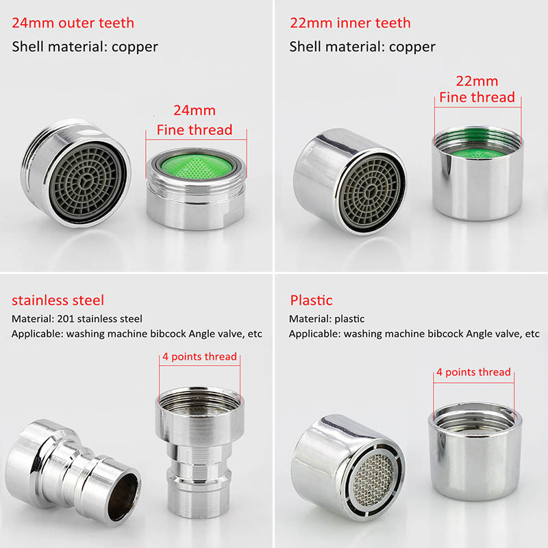 1Pcs Water Saving Nozzle Faucet Aerator Bathroom Accessories Faucet Bubbler Spout Net Prevent The Splash Water Mouth Flowers