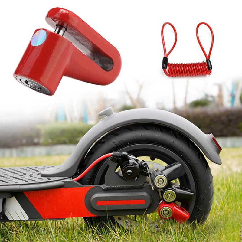 Anti-Theft Disc Brakes Lock Disc Brakes Lock With Steel Wire M365 Electric Scooter Anti-Theft Wheels