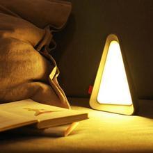 LED USB Charging Gravity Sensor Night Light Portable Adjustable Brightness Table Lamp