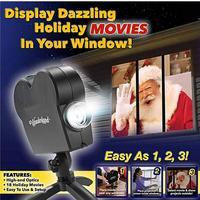 Portable Simple Wonderland lightweight Decoration Halloween Christmas Black Projector install Window portable Set