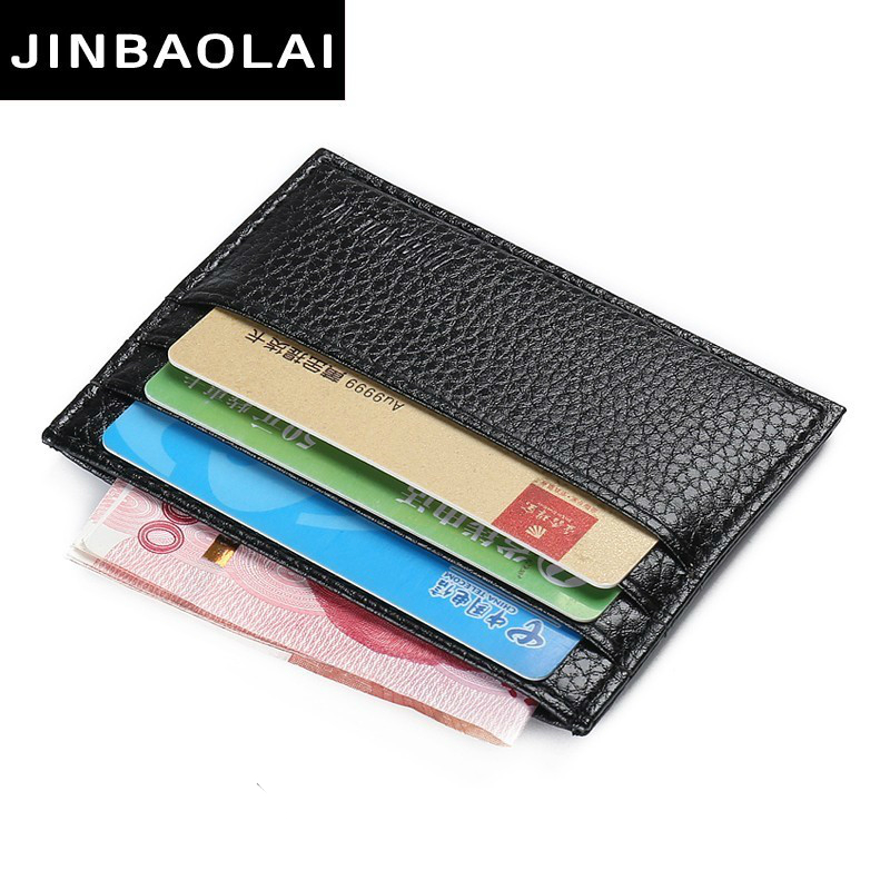 Fashion PU Leather Function 7 Bits Card Case Business Card Holder Men Women Credit Passport Card Bag ID Passport Card Wallet New