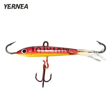 Yernea Winter Fishing Lure 1pcs/lot 7cm  Ice Jig Bait Carp Red hooks Lead Hard Baits Tackle