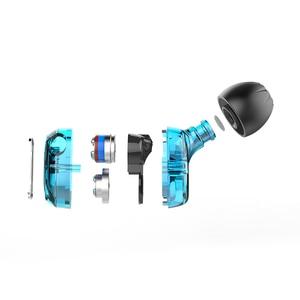 Image 4 - KZ ZSE في الأذن سماعة الألعاب الصوت شاشات Hifi الموسيقى سماعات خاصة ديناميكية محرك ثنائي سماعات الرياضة الأزرق سماعات
