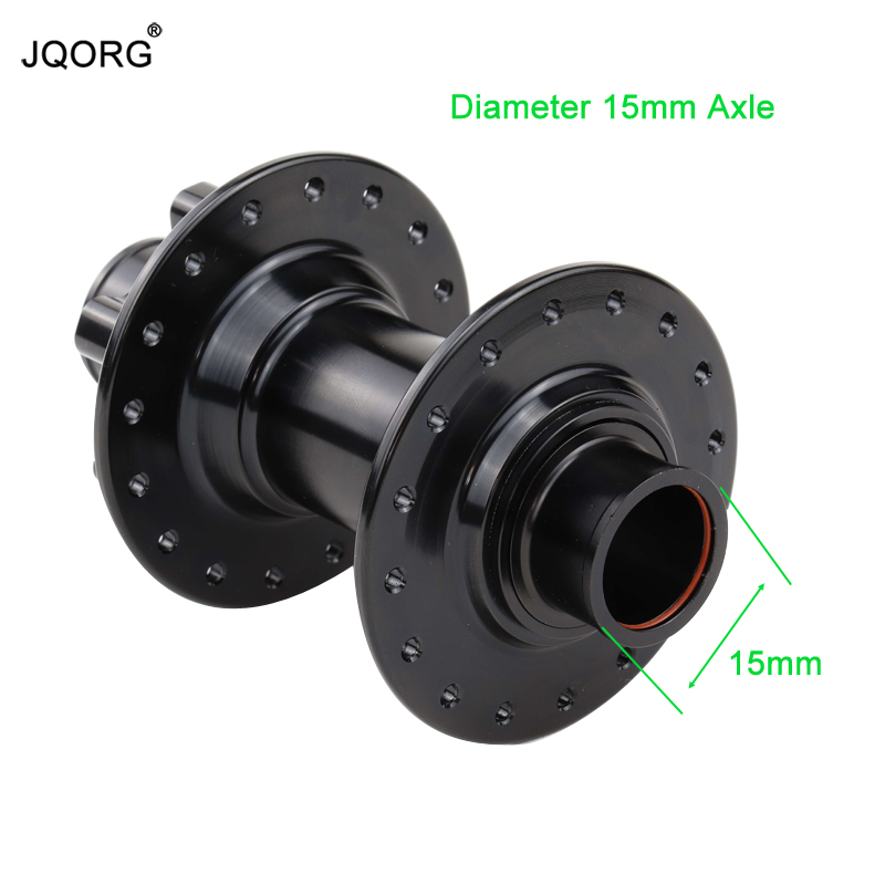 Dropout 100mm Bicycle Hubs Axle Diameter 15 mm Mountain Bike Front Hubs With 32/36 Holes Black Color Cycling Claming MTB Hubs