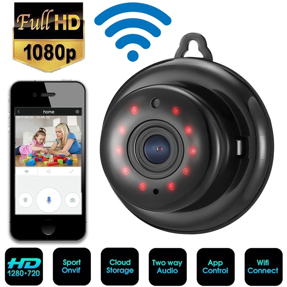 Full Color Mini Spy Camera HD 1080P Wifi IP Home Security Cam Night Vision Onvif