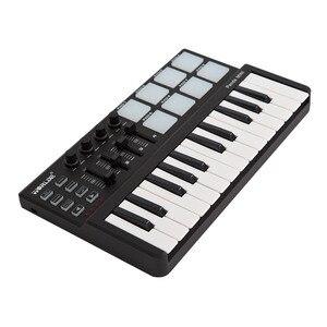 Image 5 - WORLED חדש MIDI מקלדת בקר מיני USB מקלדת שליטת MIDI MIDI בקר מקלדת רפידות 7 סגנונות לאפשרות