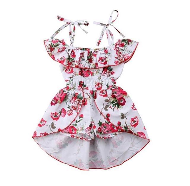 df2914eeb59b Girl Floral Summer Cute Romper Jumpsuit Playsuit Dresses Clothes Toddler  Kids Baby Girl Off The Shoulder