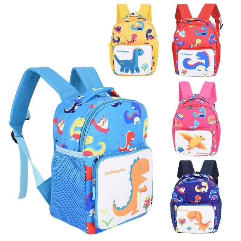 708fe51979c0 Детский анти-потерянный школьный ранец Мультфильм Удобный анти-потерянный рюкзак  школьный ранец милый динозавр