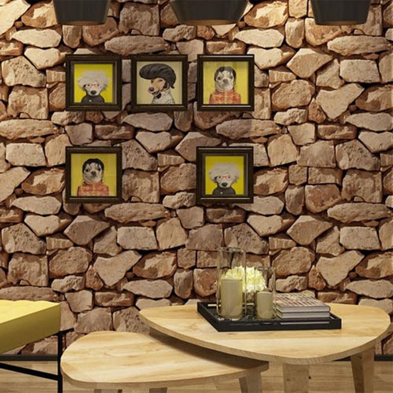 Retro 3D Effect Brick Wallpaper Roll For The Wall Stone Live Room Wall Paper Cafe Bar Restaurant Decor Wall Sticker 10Mx53CM