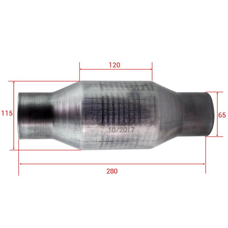 410250 2.5 pouce pour convertisseur catalytique universel en acier inoxydable à haut débit en acier inoxydable 100 200 cellule