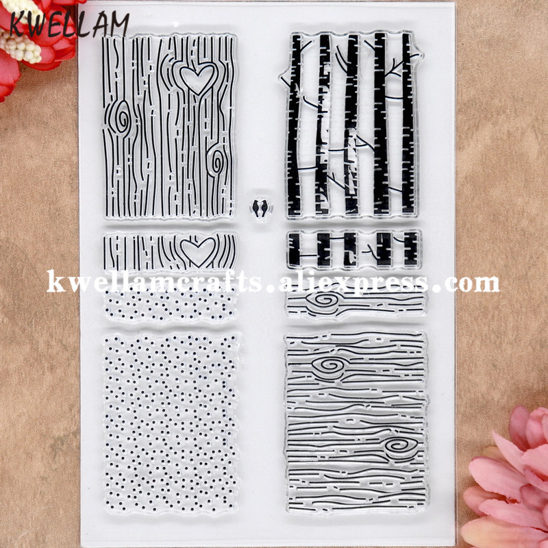 Us 3 27 9 Off Wood Grain Dots Forest Tree Scrapbook Diy Photo Cards Rubber Stamp Clear Stamp Transparent Stamp 11x16cm 8071915 In Stamps From Home