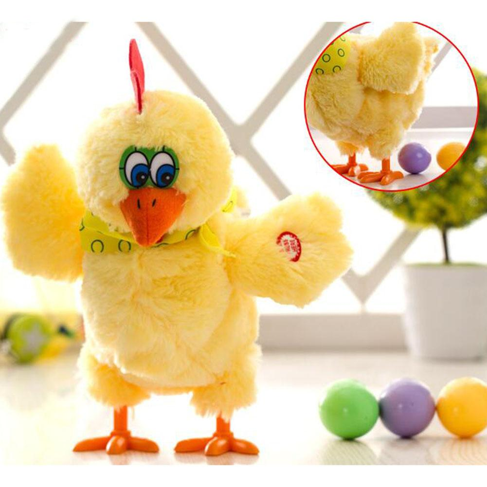 30cm Funny Chicken Electric Plush Toy Singing Dancing Laying Eggs Chicken Hens Pet Doll With Three Eggs For Boy Girl Gifts image