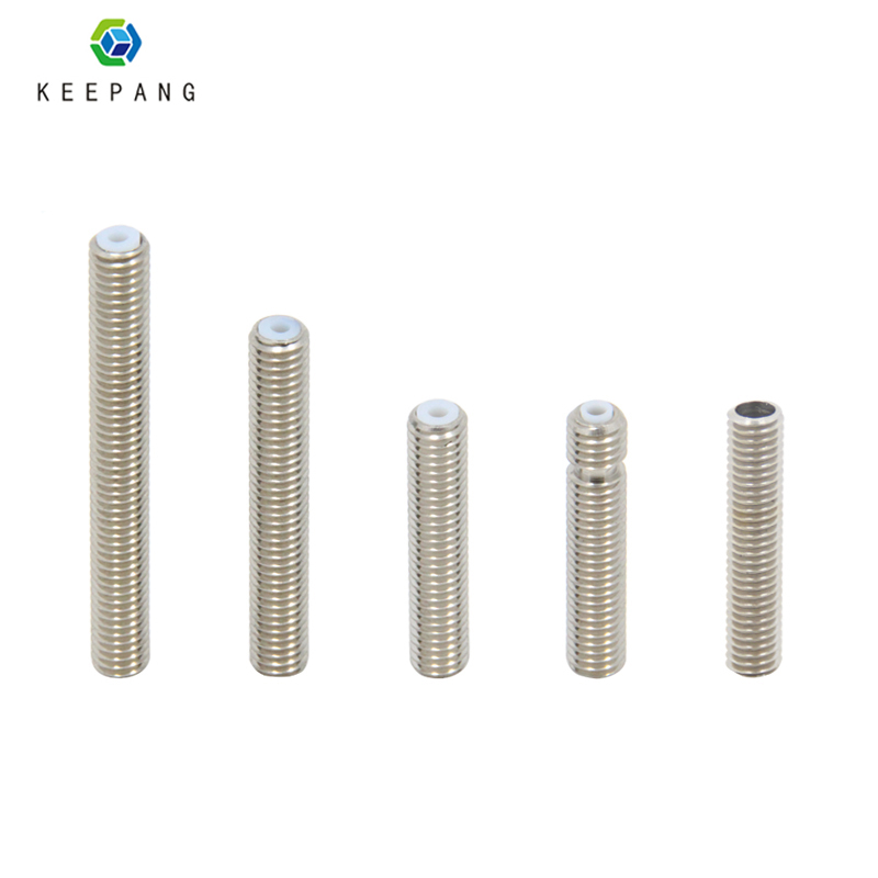 10pcs Barrels M6 Stainless Steel Nozzle Throat for 3D Printer Extruder  New