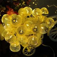 6M Metal Lantern String Lights 30Leds Outdoor Garland Christmas Tree Party Wedding Garden Decals CF