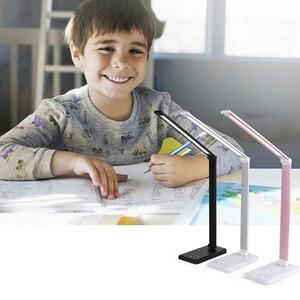 Image 2 - 책상 램프 터치 센서 led 테이블 램프 usb 전원 디 밍이 가능한 책 독서 등 3 밝기 조정 타이머 전원 끄기
