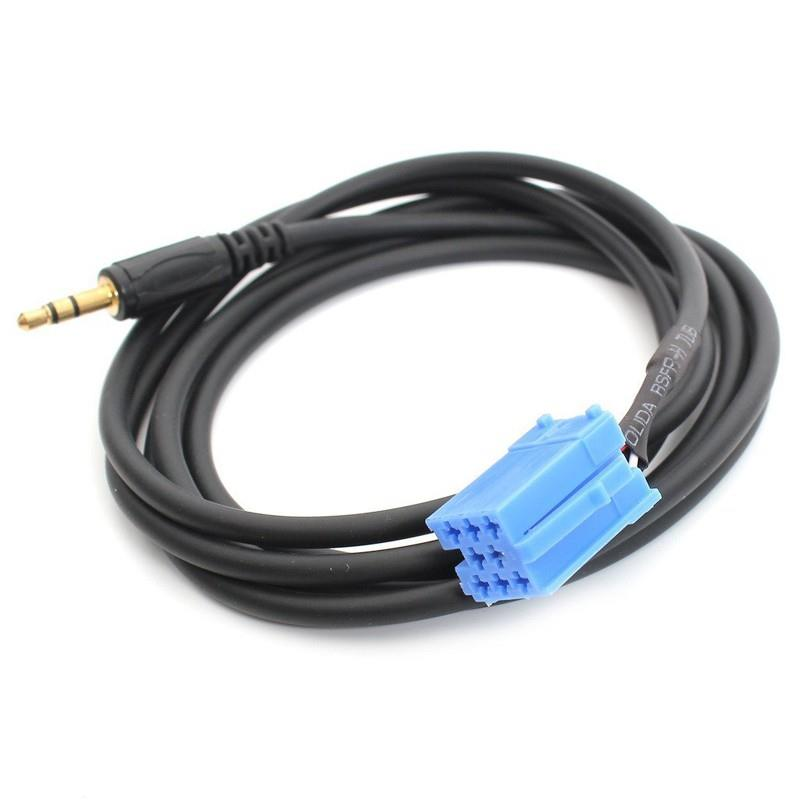 3.5mm Jack Connect Car Radio Car Mini for ISO <font><b>8</b></font> <font><b>Pin</b></font> <font><b>Aux</b></font> <font><b>Cable</b></font> Adapter for VW AUDIO Bla-punkt Radio image