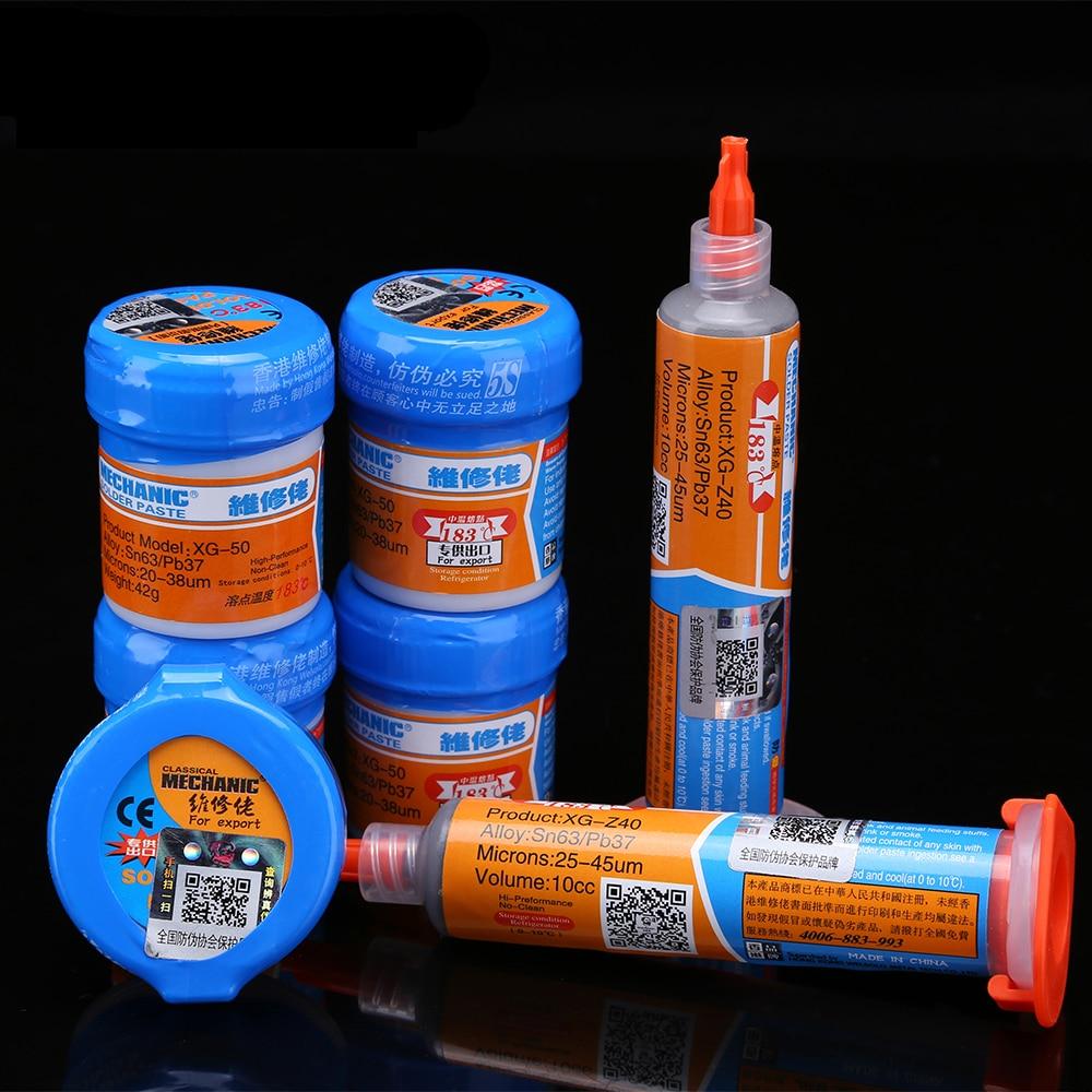 Solder Paste Soldering Paste Flux XG-80/50/30/40/Z40 Solder Tin Sn63/Pb67 For Mobile Phone Soldering Iron Circuit Board Repair