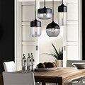 Современные светодиодные подвесные светильники  прозрачный стеклянный абажур  подвесные светильники для столовой  дома  деко  подвесные св...
