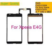 10Pcs/lot For Sony Xperia E4G E2003 E2006 E2053 DUAL E2033 E2043 Touch Screen Digitizer Front Outer Glass Panel Sensor NO LCD