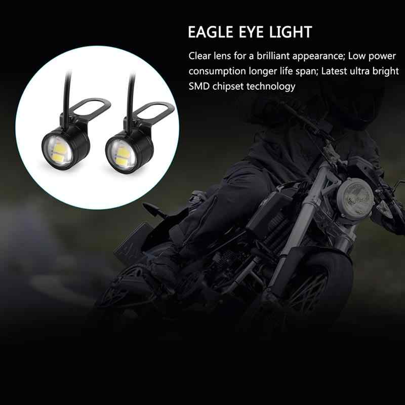 2 Pcs Car LED Eagle Eye Lamps DC 12V 5W 20mm Motorcycle Hawkeye Reverse Backup Light Daytime Running Light Signal Bulb Fog Lamp