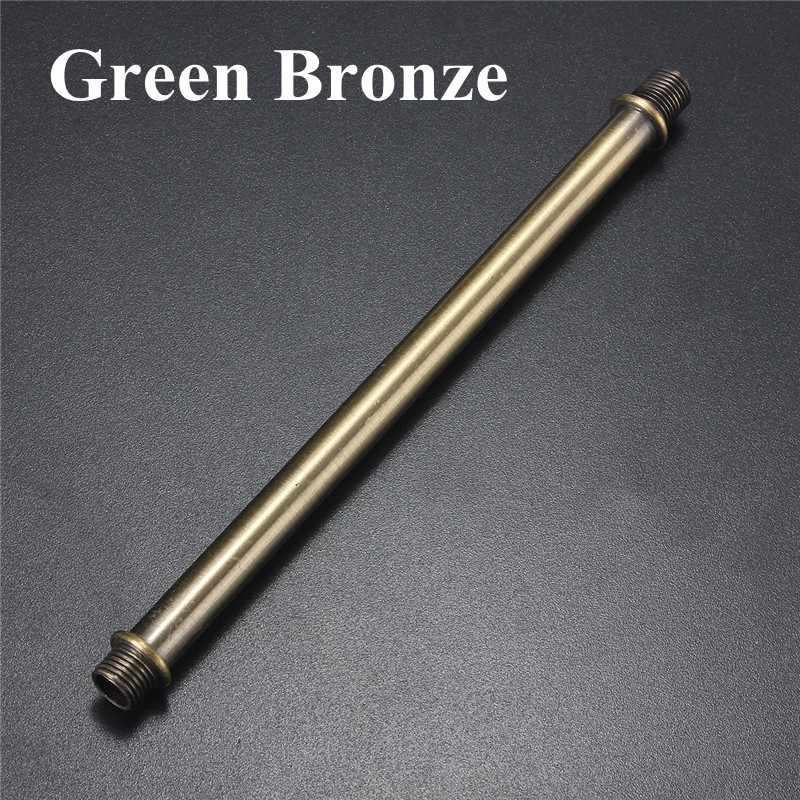 זהב ברונזה/ירוק ברונזה רטרו בציר 17 cm מנורת בסיס E27 שקע מנורת בסיס מחזיק הנורה אור Droplight הארכת מוט אבץ סגסוגת