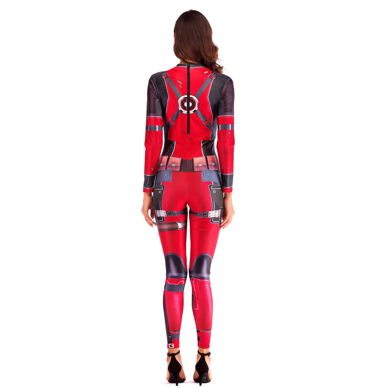 Moda vip superbohater Deadpool Anime przebranie na karnawał body Sexy kostiumy dla kobiet kombinezon jednoczęściowy plus size