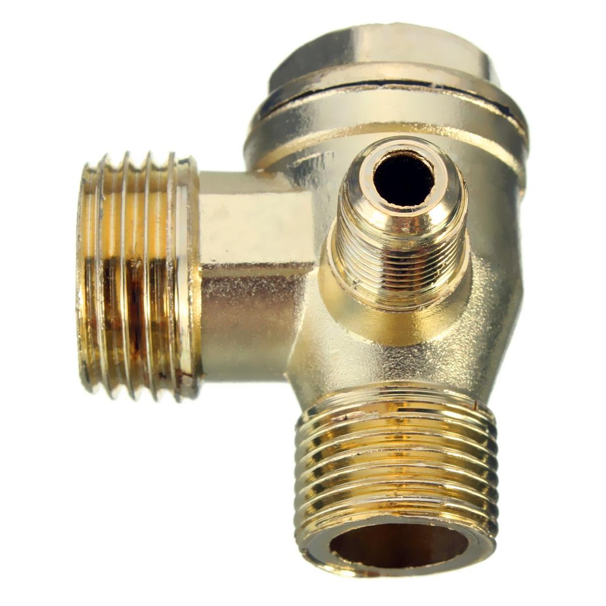 90 Degree Brass Male Threaded Check Valve Miniature Air