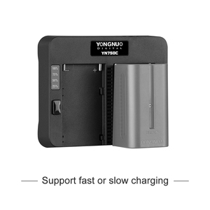 Image 4 - YONGNUO cargador de batería de litio YN750C, doble canal, carga rápida, Compatible con Sony NP F750 NP F950/B NP F530 NP F550