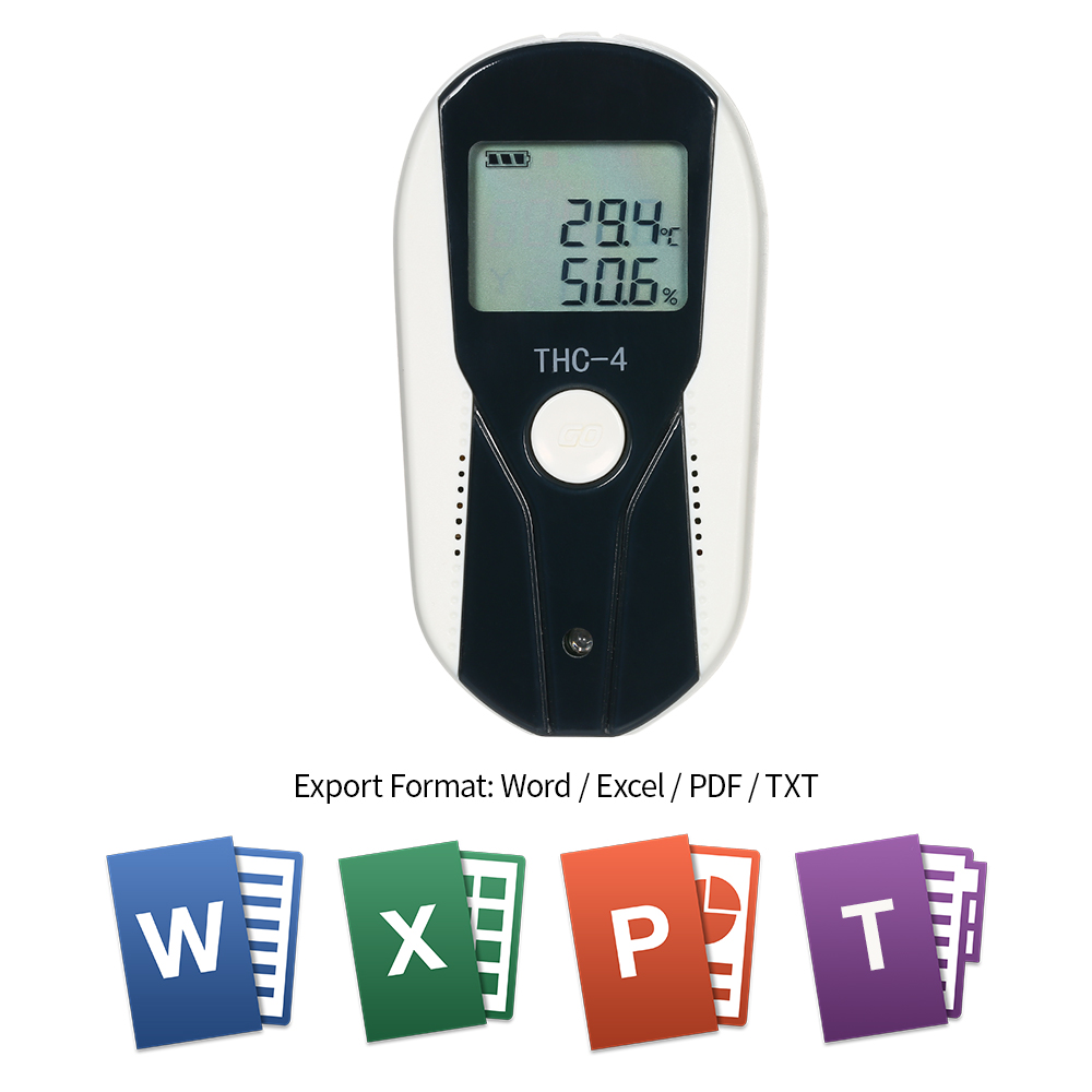 USB Temperature Humidity Data Logger RH TEMP Datalogger Recorder LCD Humiture Recording Meter with External Temperature Humidity
