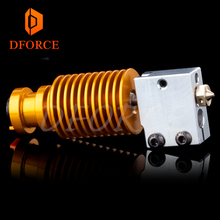 Superior quality gold heatsink v6 Volcano hotend J-head heater block heat break NOZZLE for E3D HOTEND titan extruder