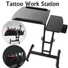 65-97 см, черные регулируемые маникюрные столики для салона, тату для ногтей, рабочий стол, компьютерный стол, стол для рисования, подставка для работы