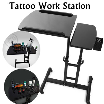 65-97cm Black Adjustable Salon Nail Tables Tattoo Nail Work Desk Table Computer Desk Table Tracing Drawing Work Station Stand