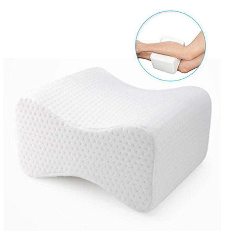 Resilience Memory Leg Pillow U-Shape Cotton White Comfortable Anti-Reflux Pillow Knee Anti-Venous Leg Cushion For Pregnant